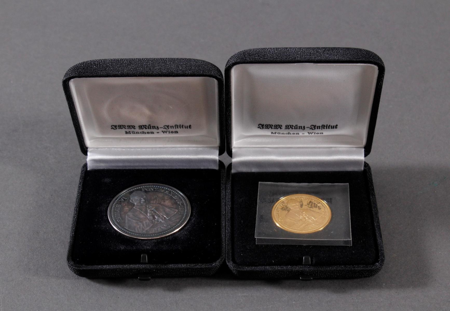 Die Papst Paul VI. Gedenkmedaillen in Silber und Gold