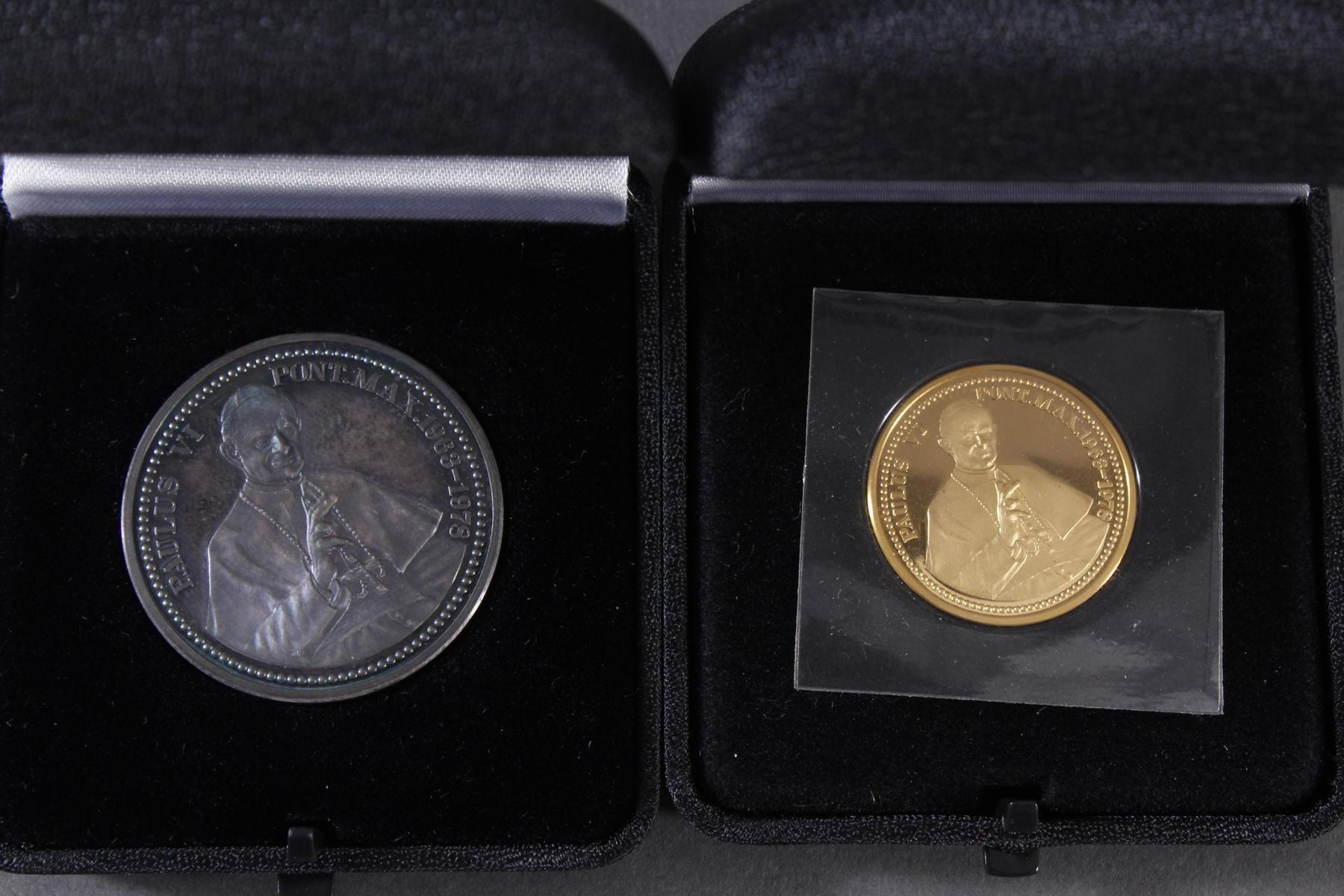 Die Papst Paul VI. Gedenkmedaillen in Silber und Gold-2