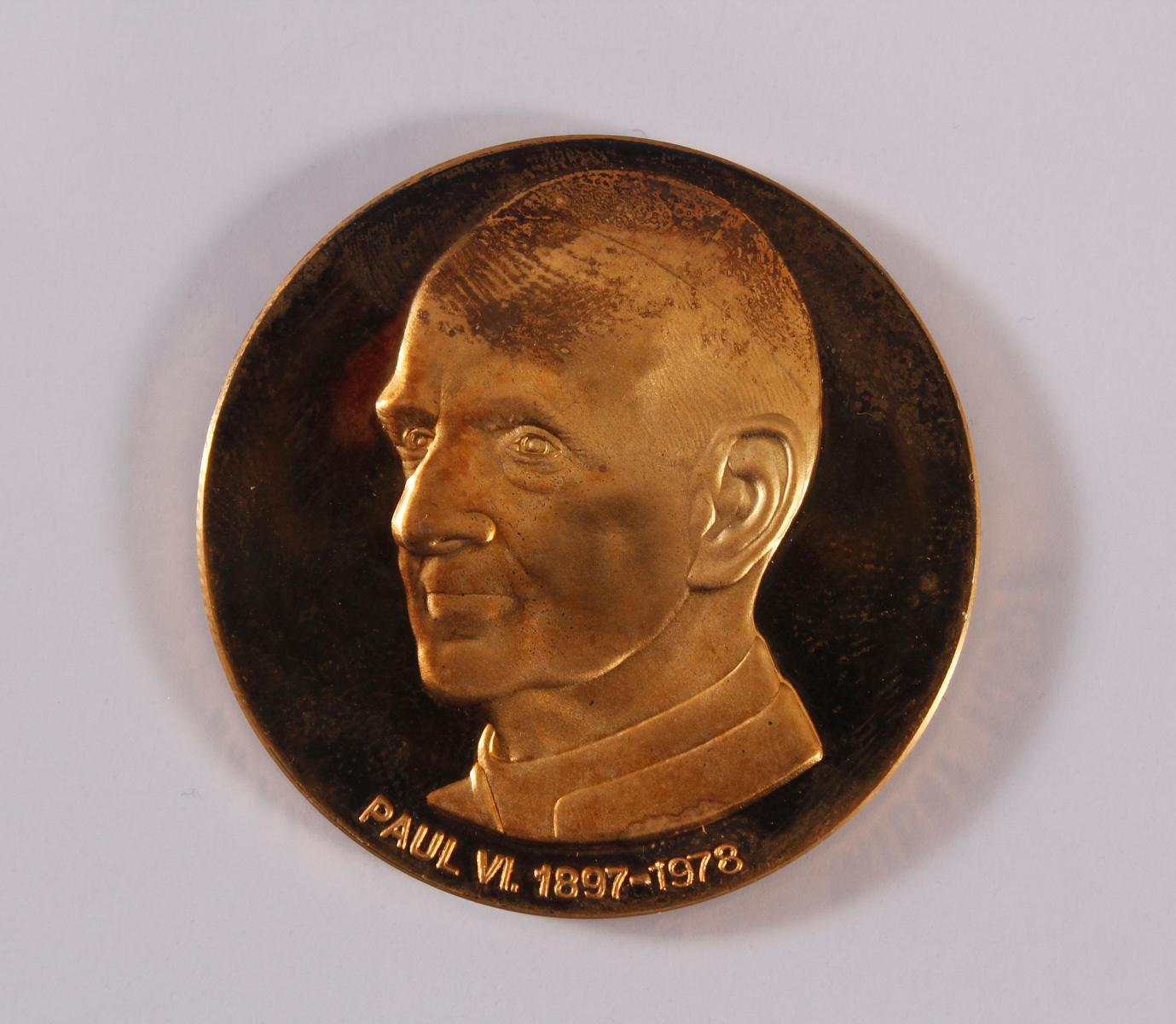 Goldemedaille Paul VI. 1897 – 1978