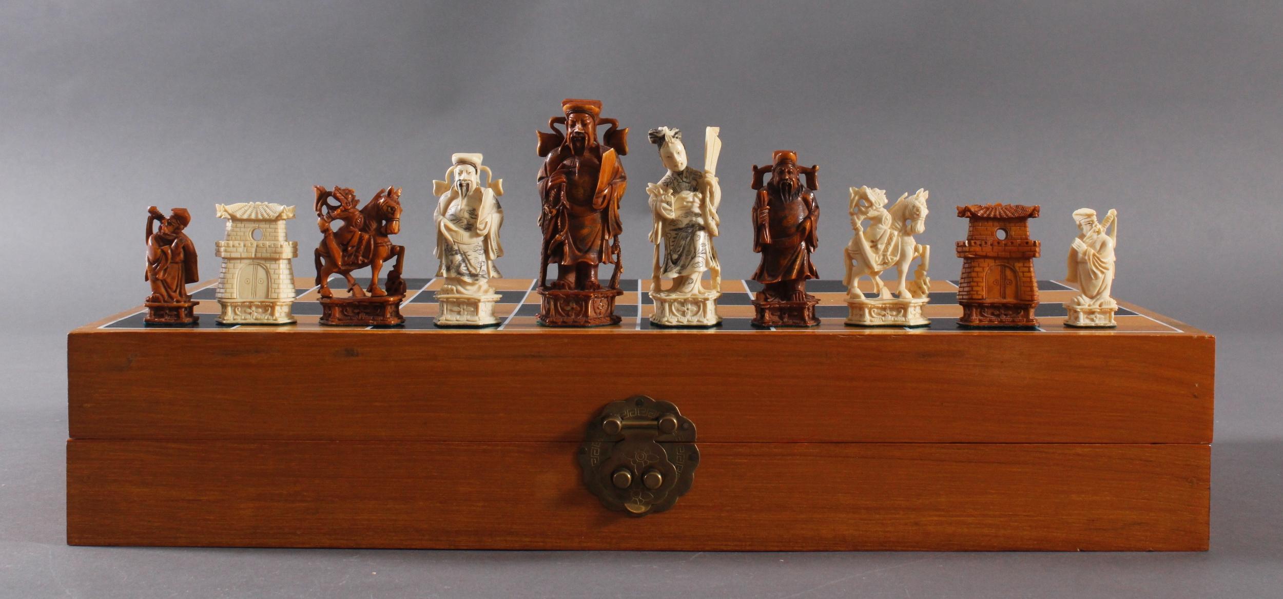Schachspiel, China 20. Jh.