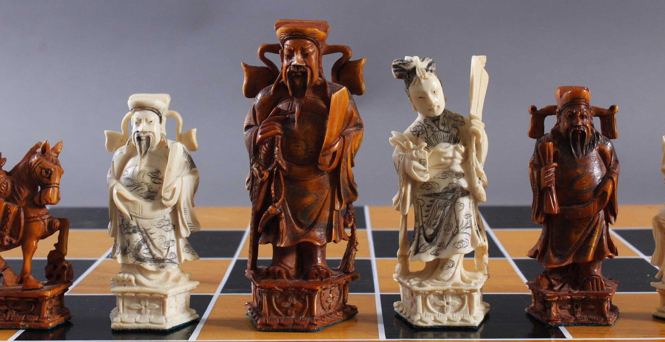 Schachspiel, China 20. Jh.-2