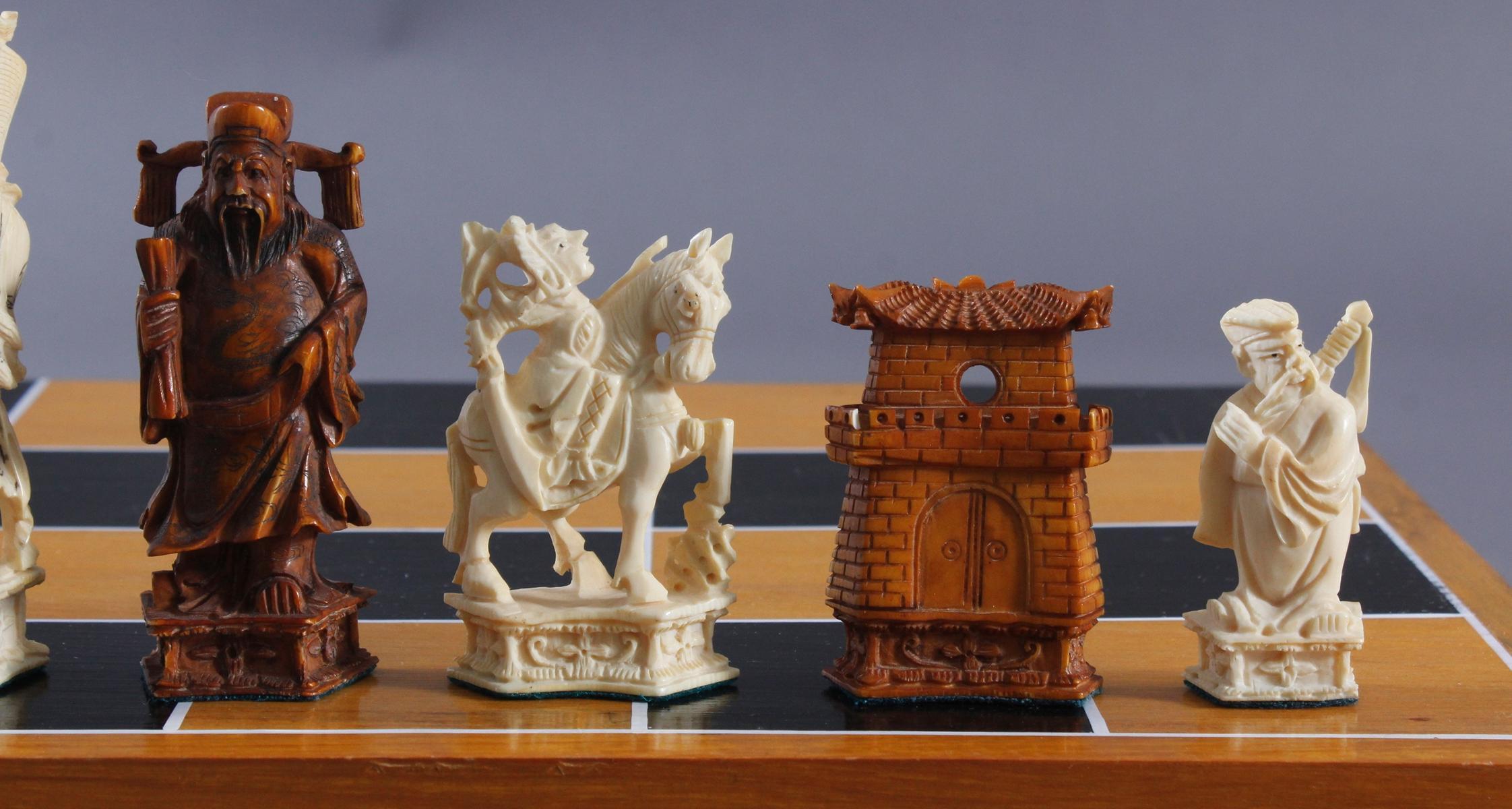 Schachspiel, China 20. Jh.-3