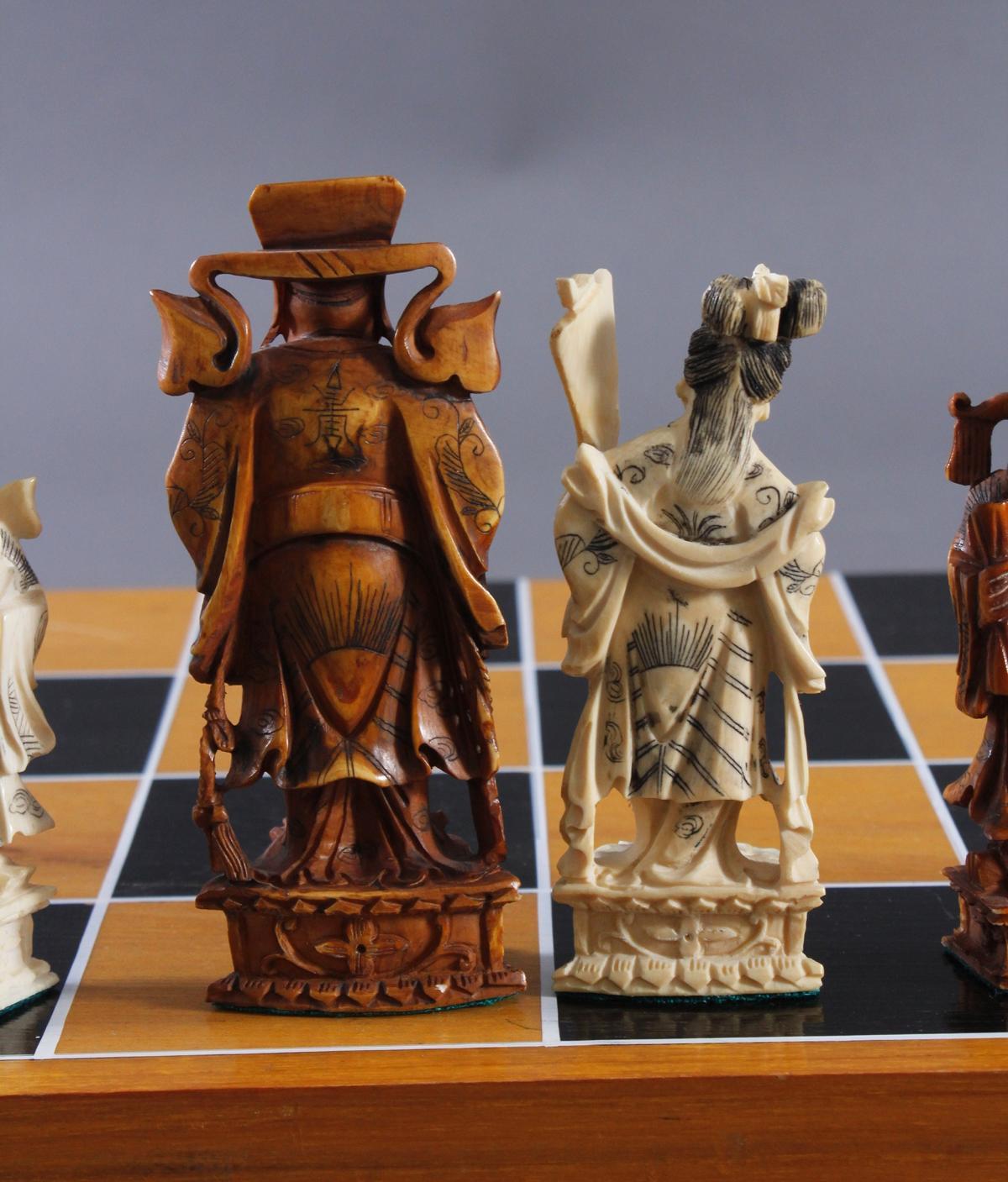 Schachspiel, China 20. Jh.-4