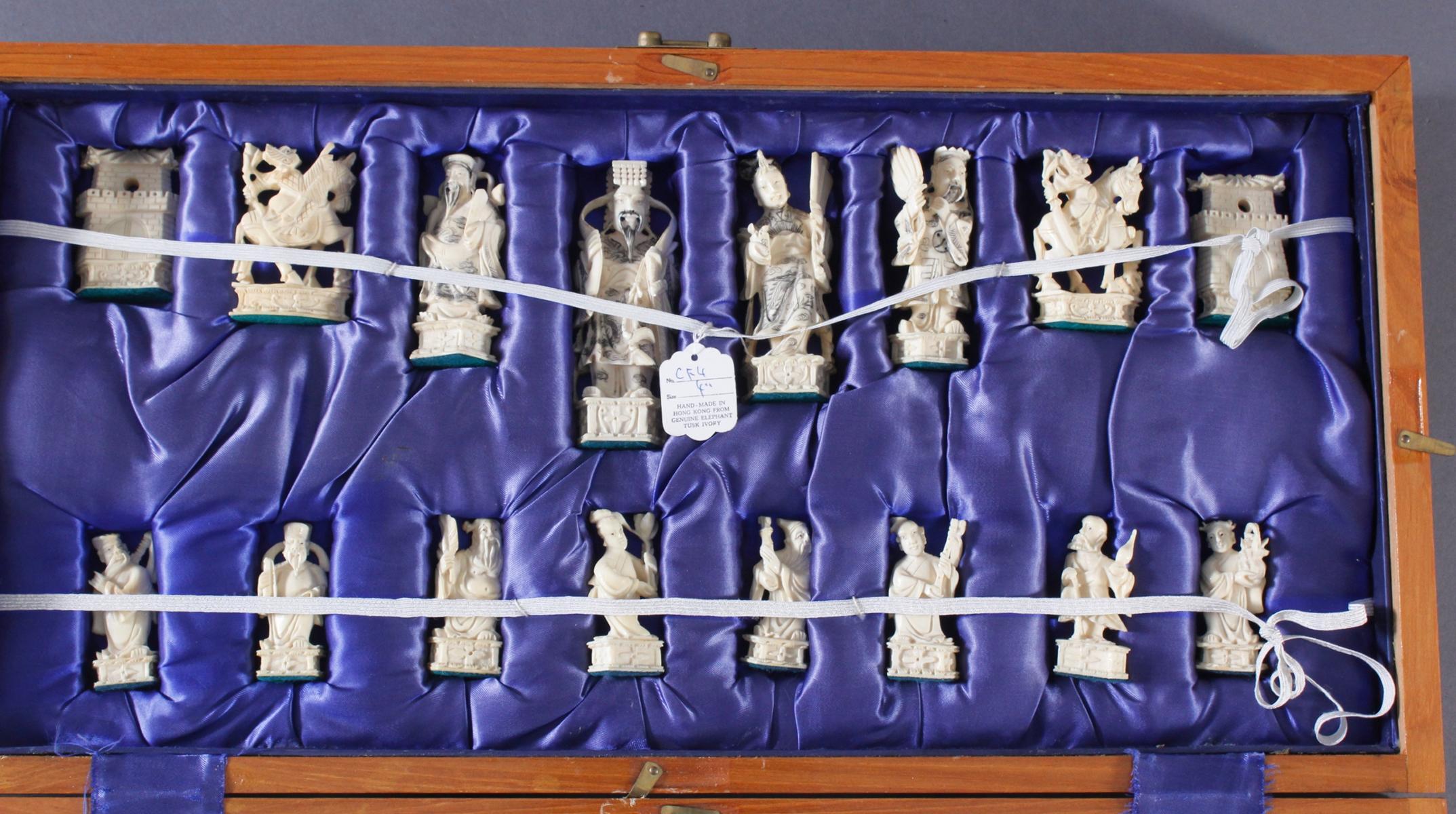 Schachspiel, China 20. Jh.-6