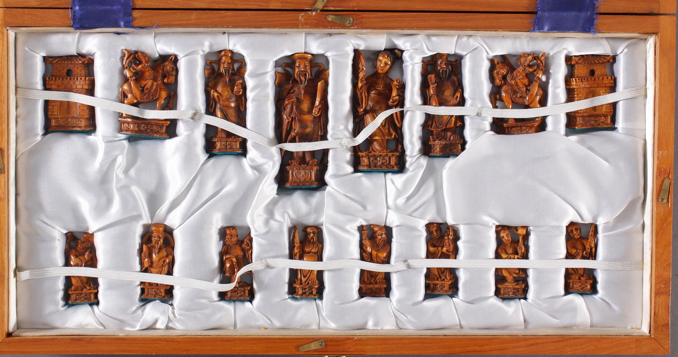 Schachspiel, China 20. Jh.-7