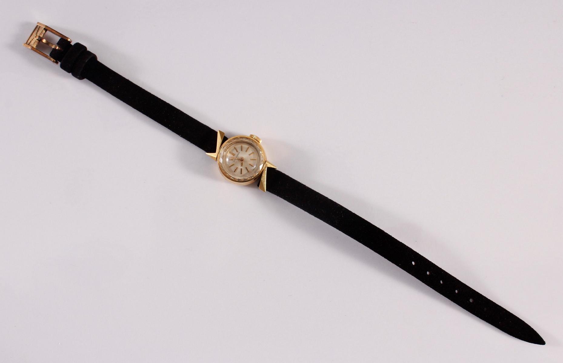 Longine Damenarmbanduhr, 18 Karat Gelbgold