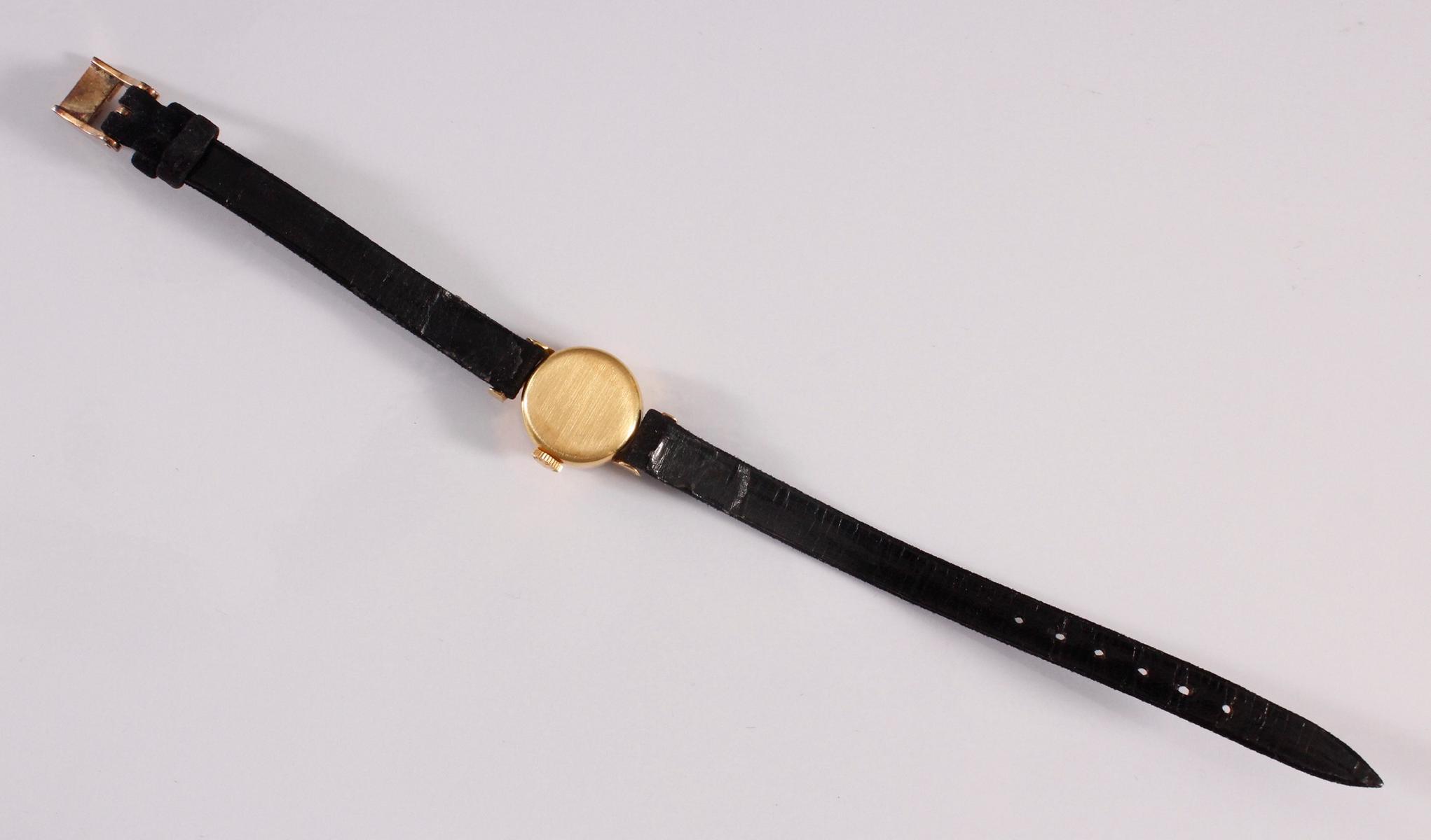 Longine Damenarmbanduhr, 18 Karat Gelbgold-4