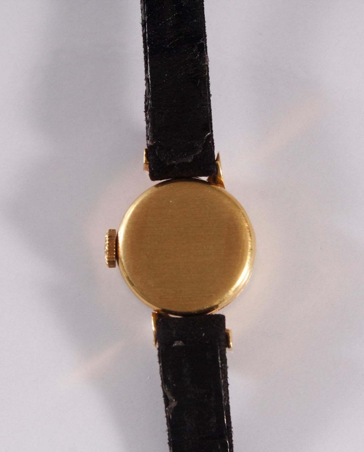Longine Damenarmbanduhr, 18 Karat Gelbgold-5