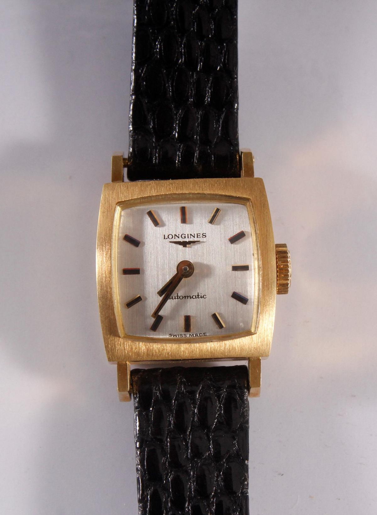 Longine Automatic Damenarmbanduhr, 18 Karat Gelbgold-2