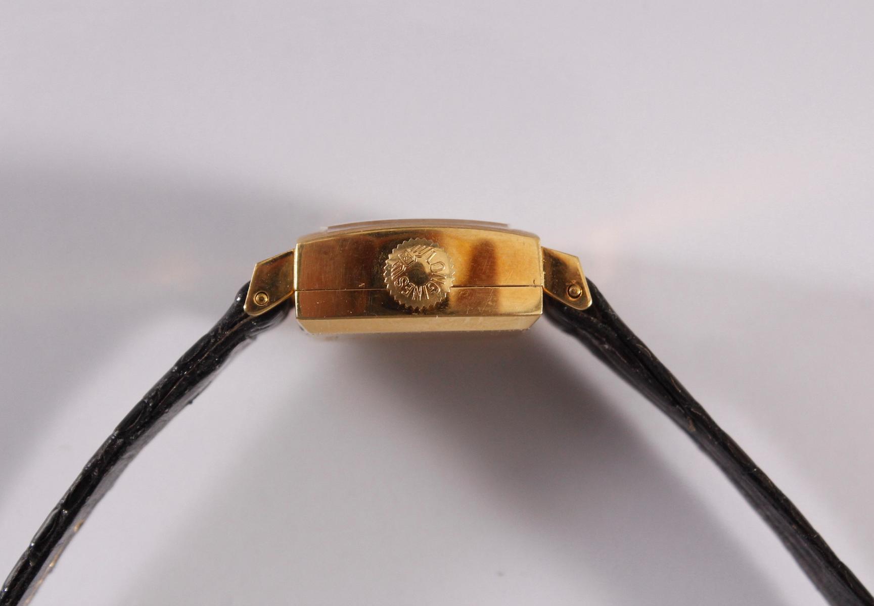 Longine Automatic Damenarmbanduhr, 18 Karat Gelbgold-3