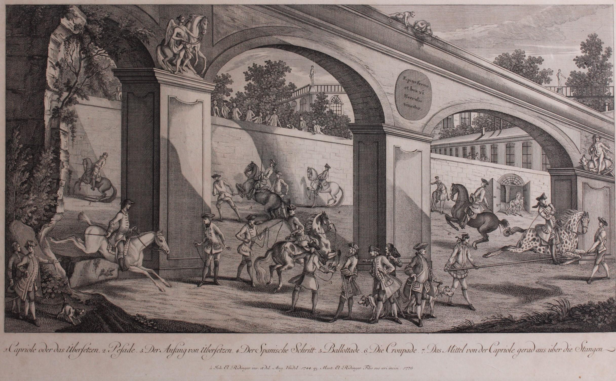 Martin Elias Ridinger (1730-1781). Die große Reitschule, Blatt 5-2