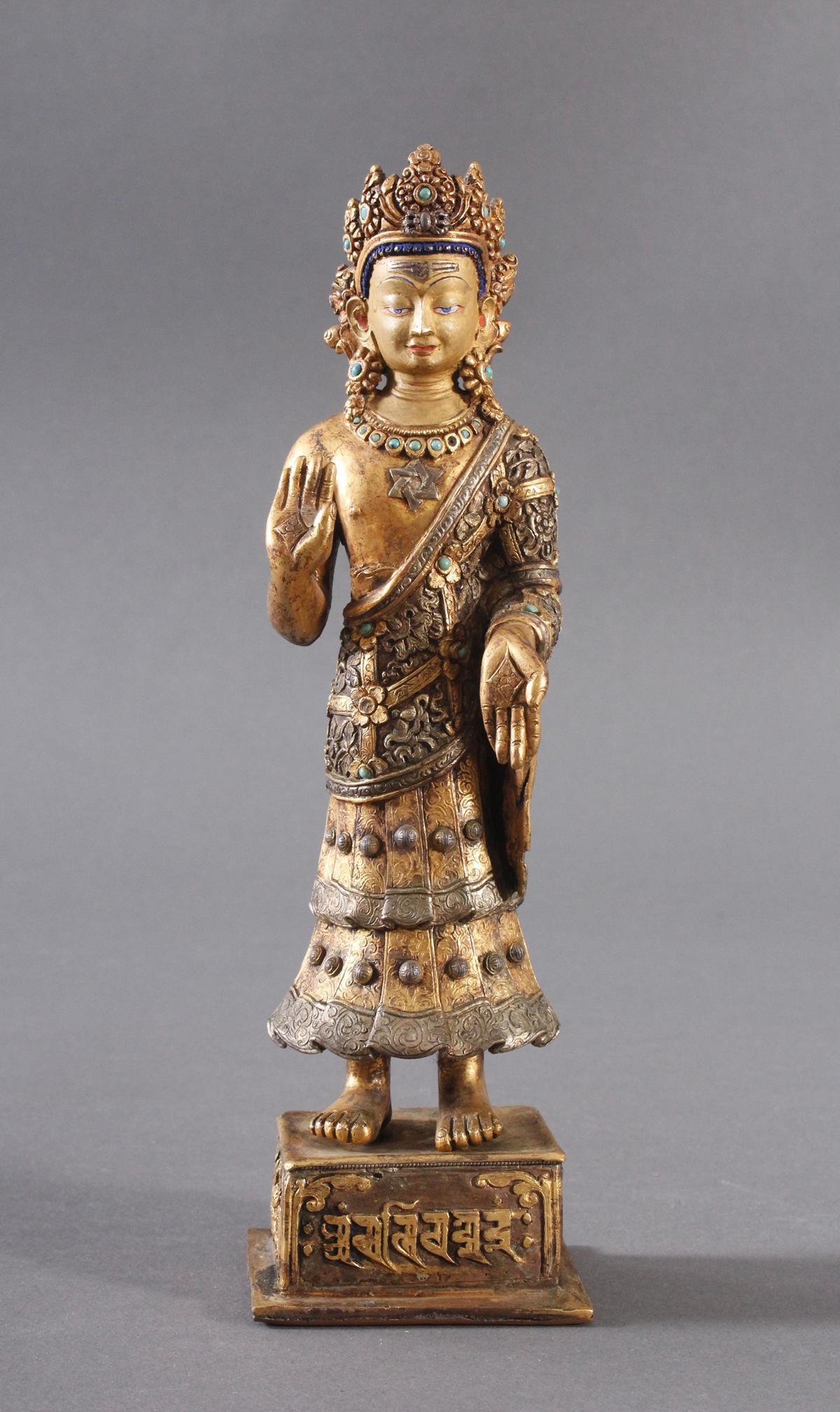 Buddha Skulptur um 1900.