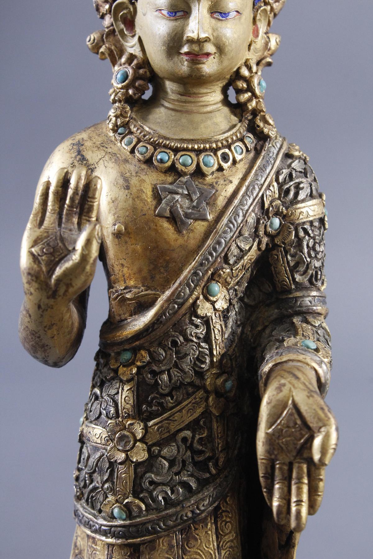 Buddha Skulptur um 1900.-7