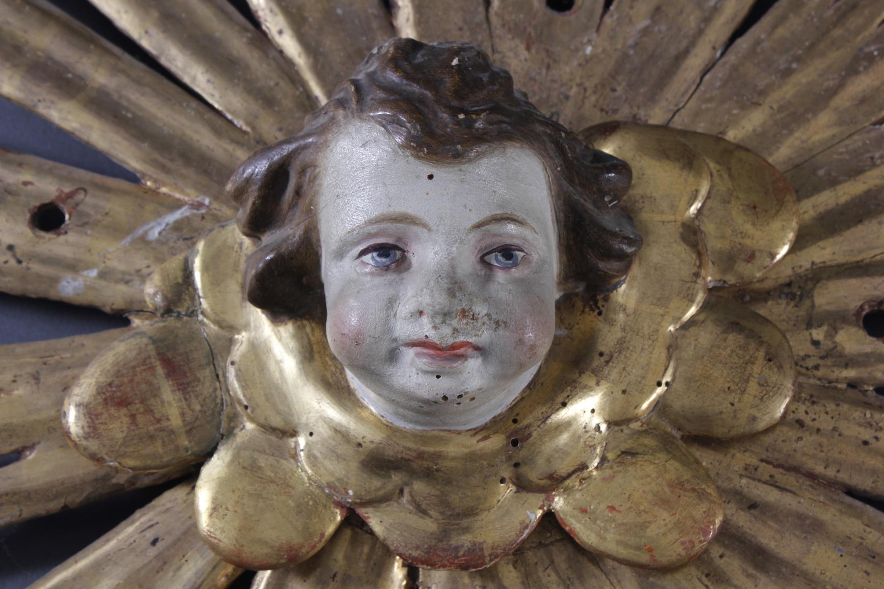 Barocker Sternenkranz mit Puttikopf, 18. Jh.-2