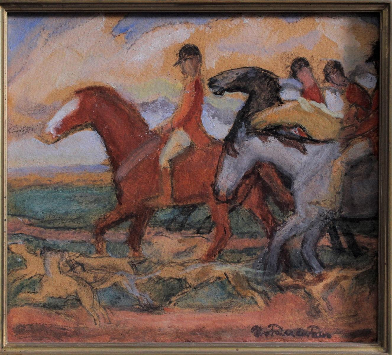 Hans VON FABER DU FAUR (1863-1940), Jagdreiter mit Hunden-2