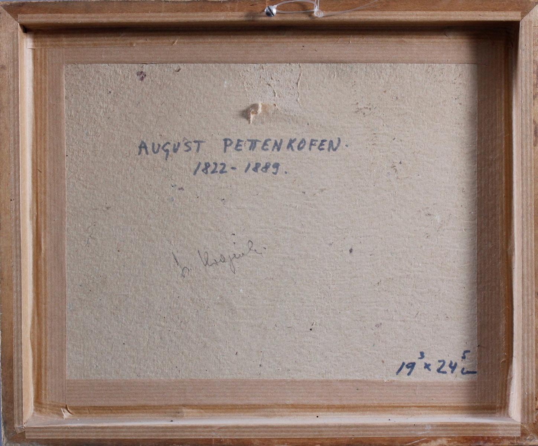 August Ritter VON PETTENKOFEN (1822-1889), 3 angebundene Pferde-4