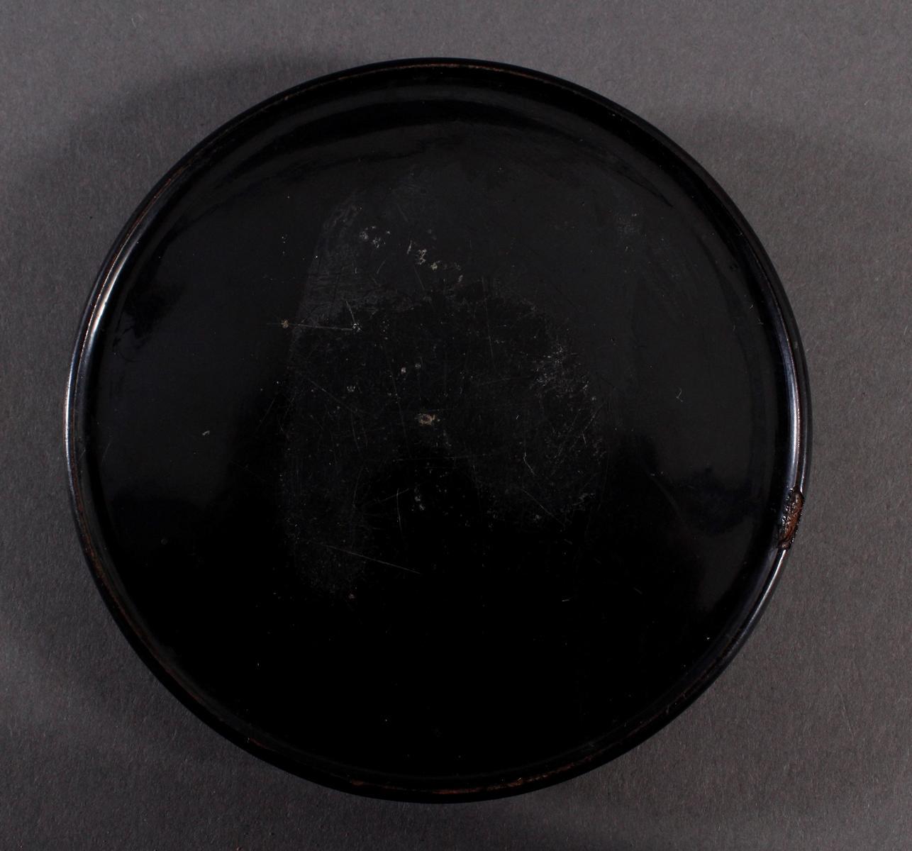 Lackschatulle, Schnupftabakdose, Stobwasser 19. Jh.-4
