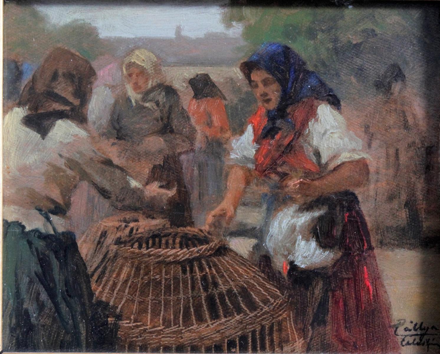Celesztin PALLYA (1864-1948), Marktfrauen-2