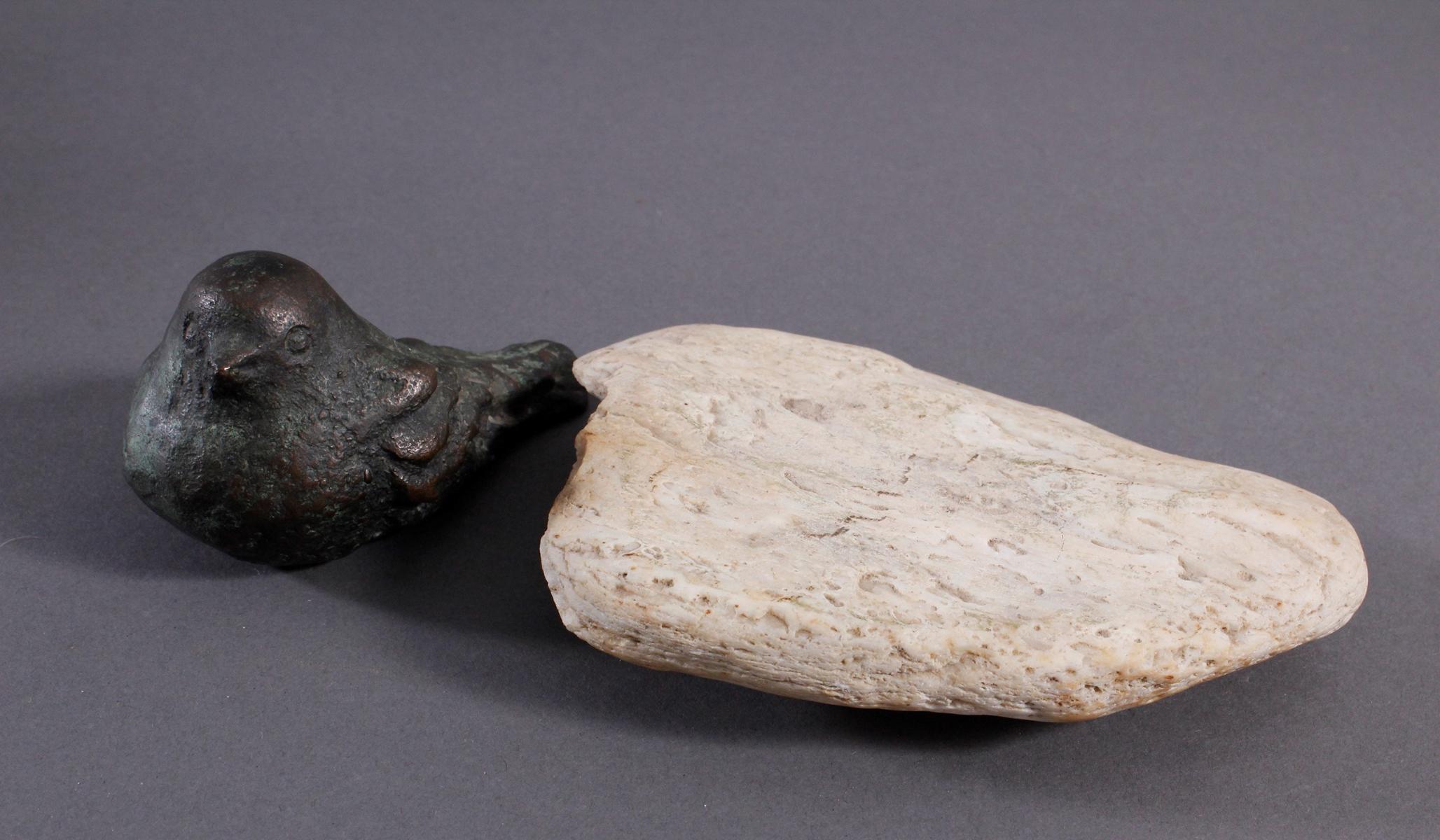 Bronze-Skulptur 'Spatz'-4