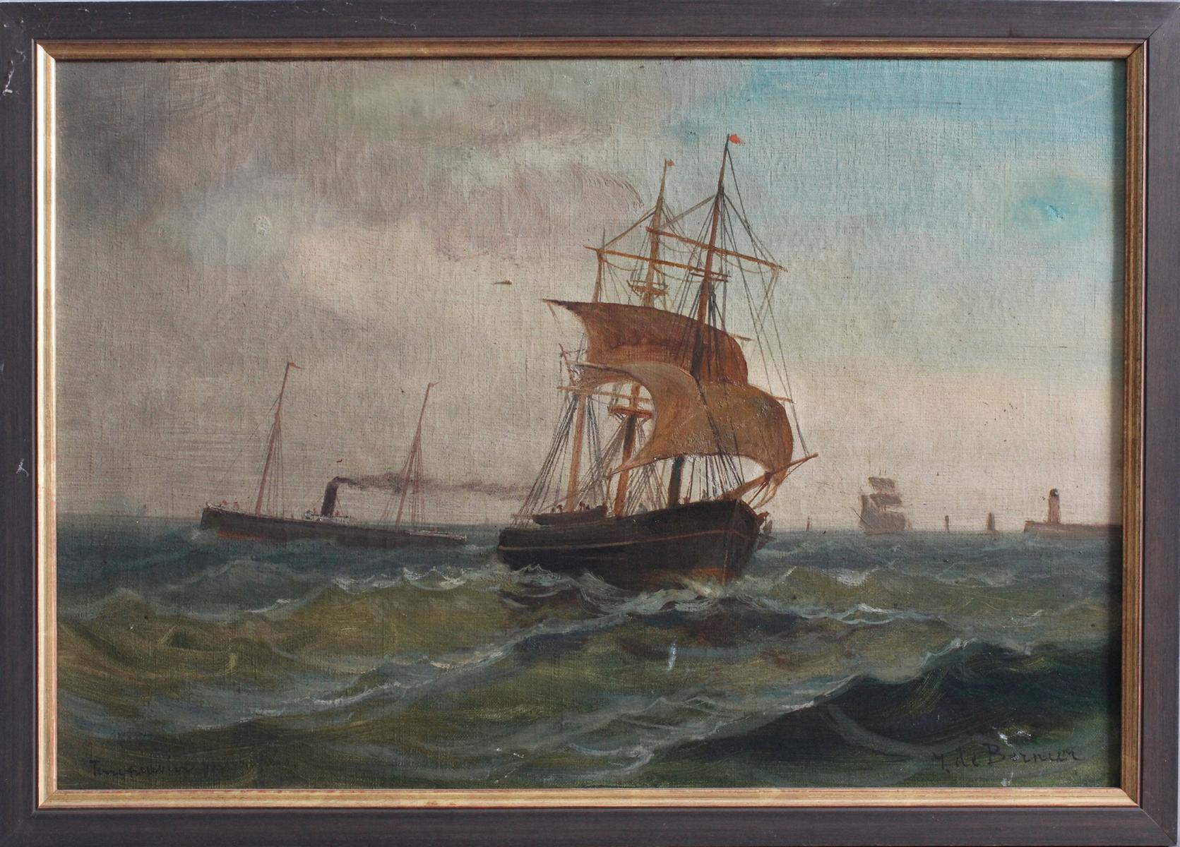 Géo BERNIER (1862-1918). Kreuzende Schiffe