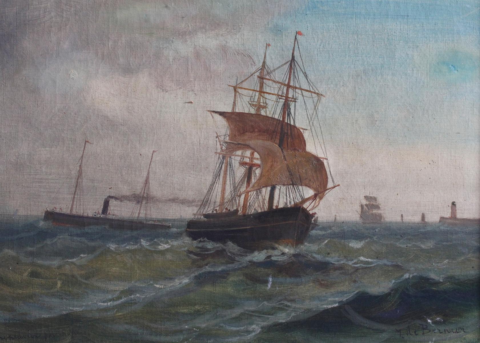 Géo BERNIER (1862-1918). Kreuzende Schiffe-2