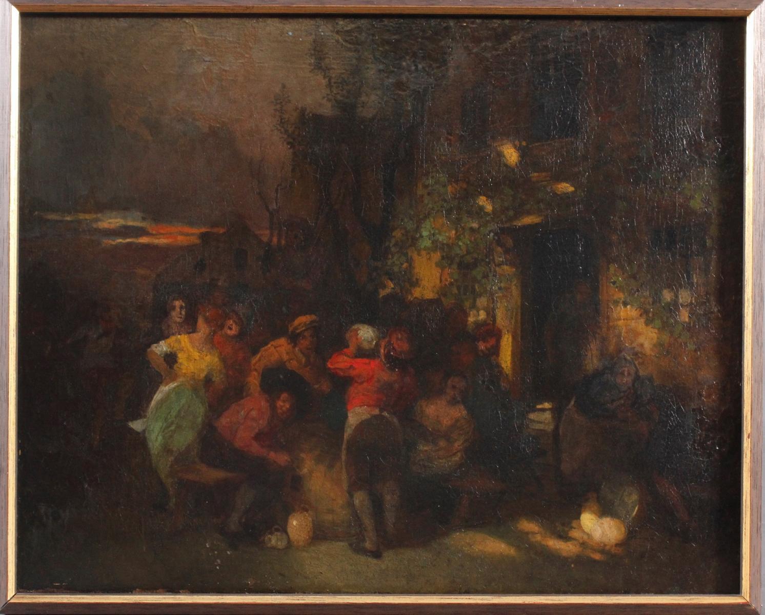 Unbekannter Künstler aus dem 18. Jh., Trinkgelage