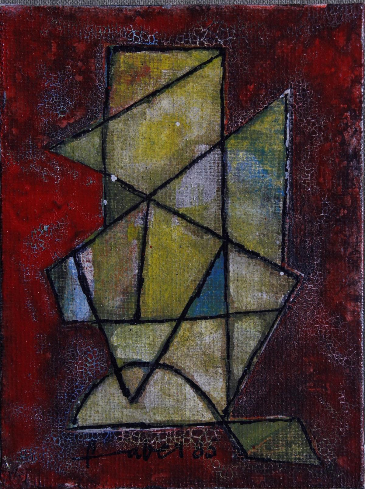 Will Farber-Zietz (1901-1987). Komposition in rot, gelb, grün, blau-2