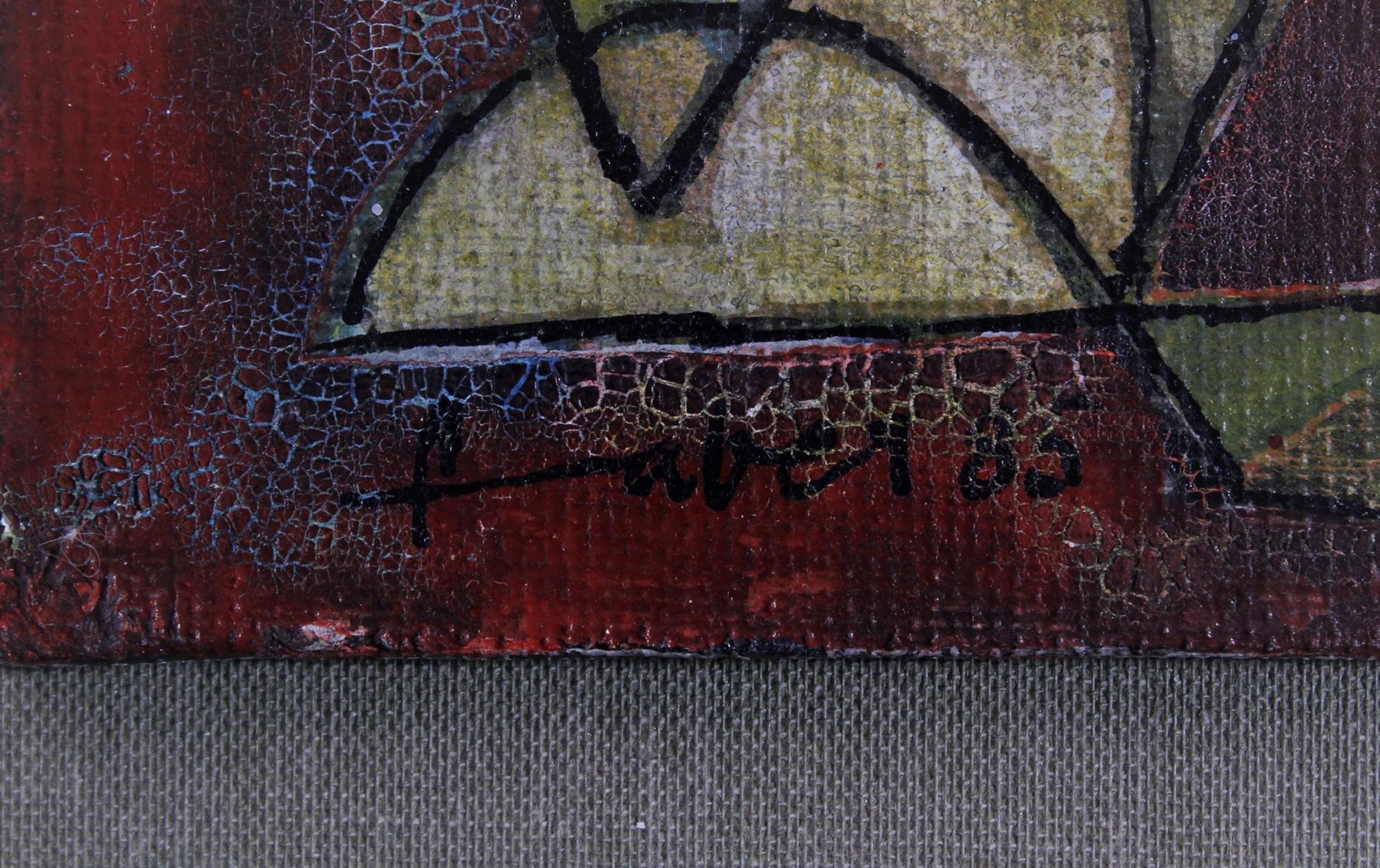 Will Farber-Zietz (1901-1987). Komposition in rot, gelb, grün, blau-3