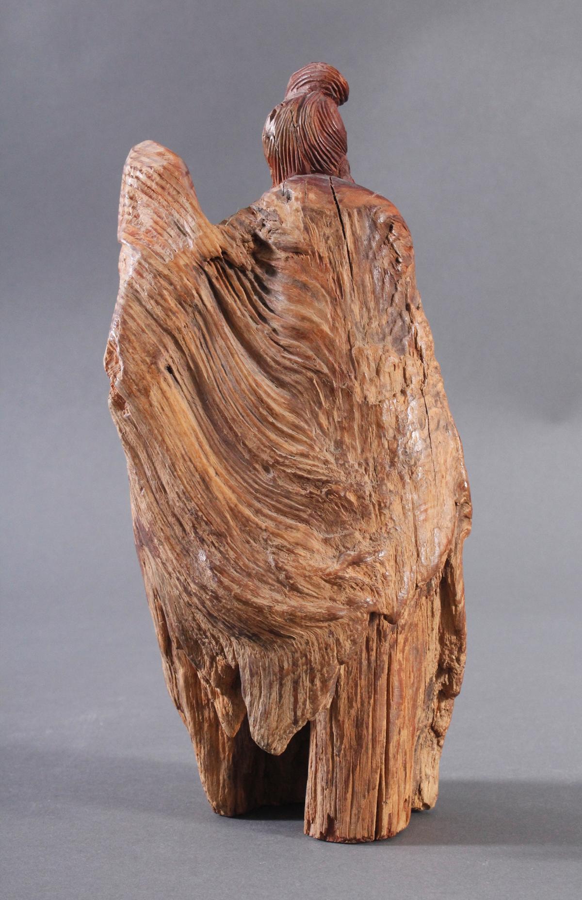 Holzskulptur, China 2. Hälfte 20. Jh. Mann mit Bart-2