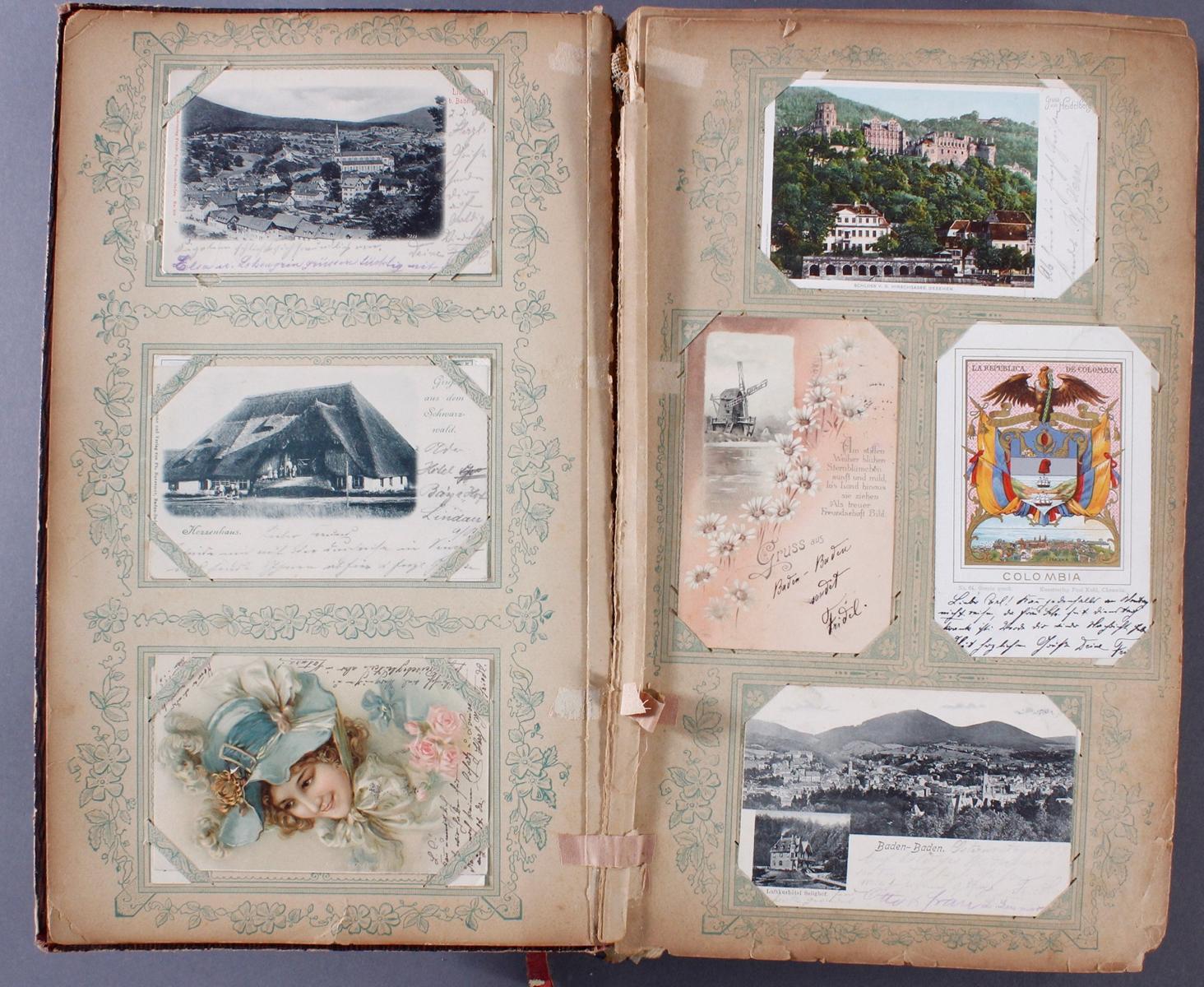 Postkartenalbum um 1900-2