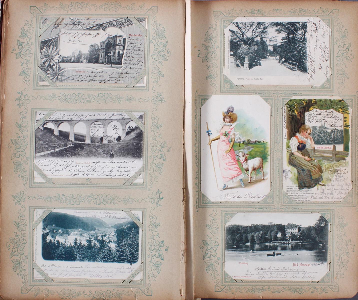 Postkartenalbum um 1900-3