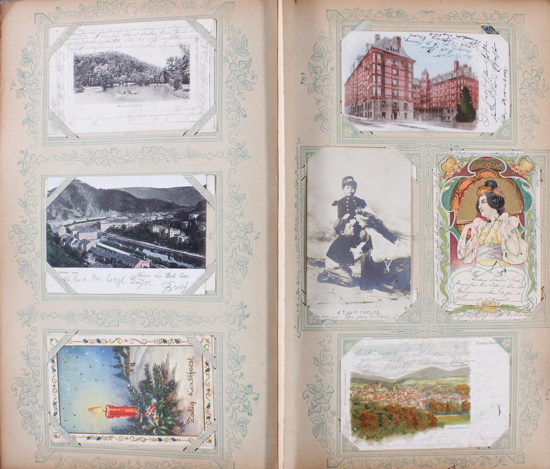 Postkartenalbum um 1900-5