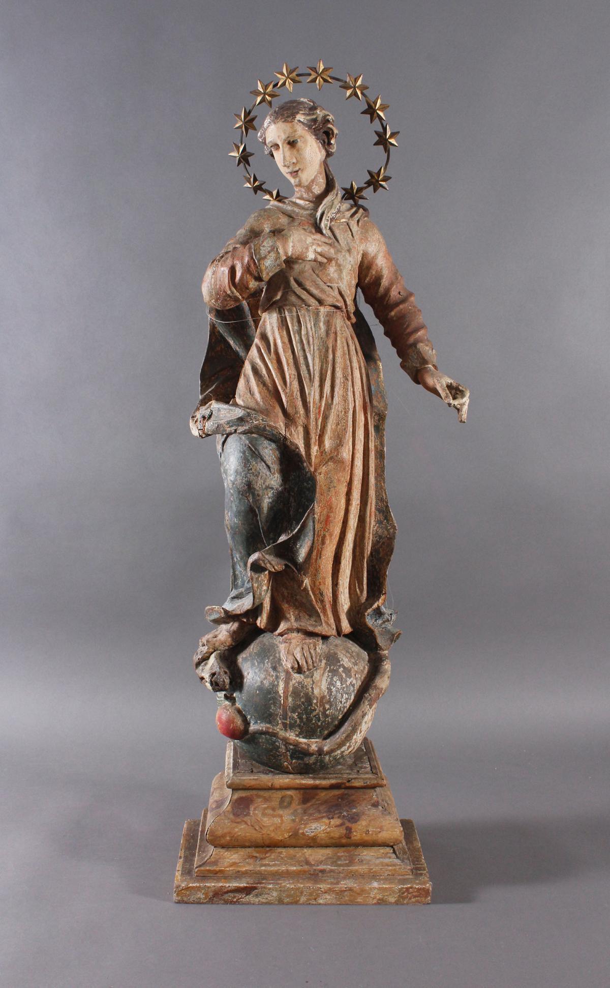 Barock Heiligenfigur, Strahlenkranz-Madonna Maria Immaculata