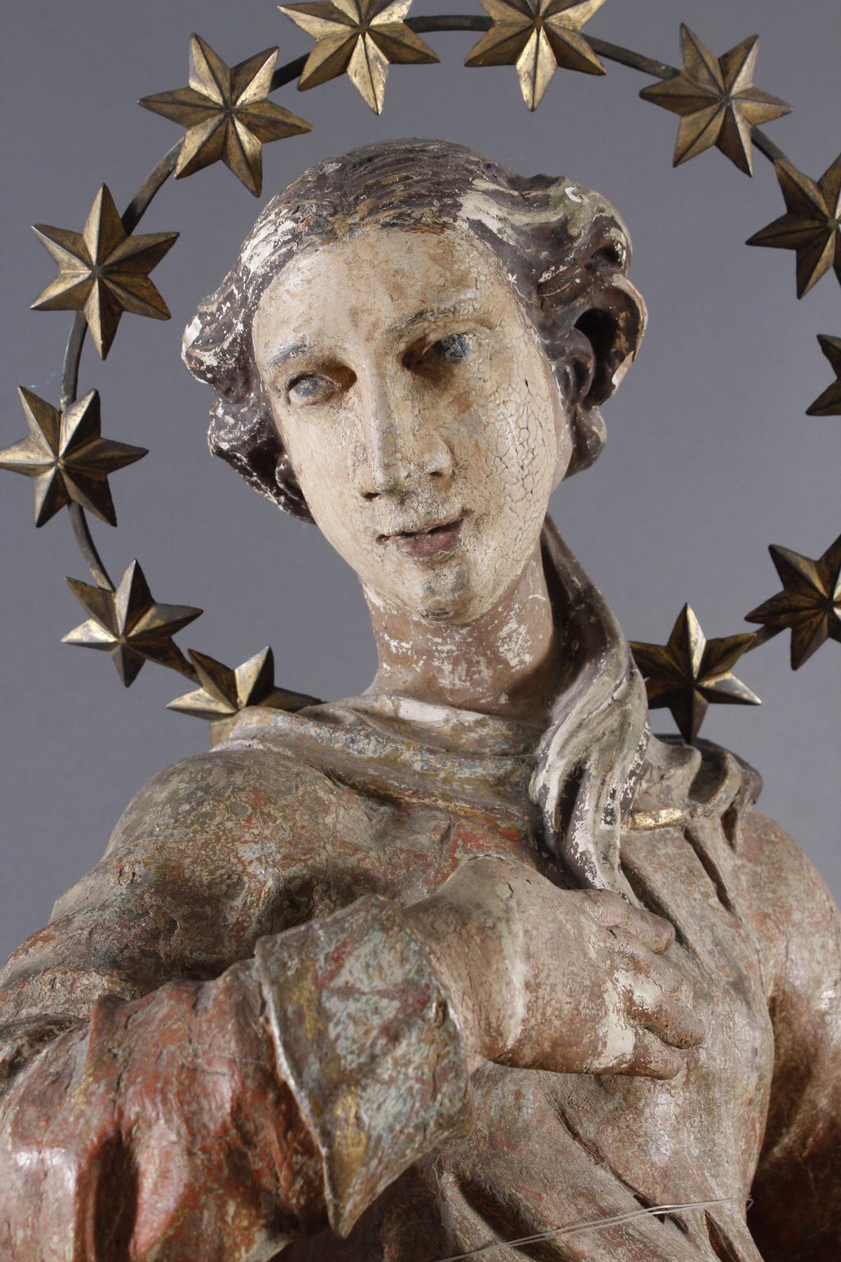 Barock Heiligenfigur, Strahlenkranz-Madonna Maria Immaculata-2