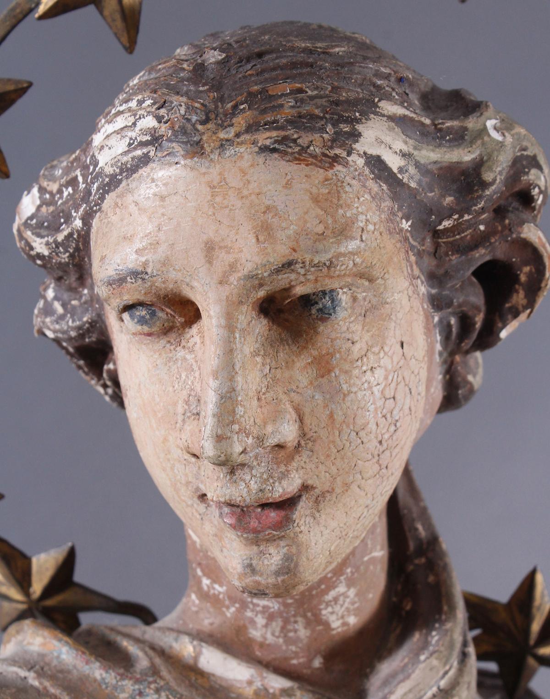 Barock Heiligenfigur, Strahlenkranz-Madonna Maria Immaculata-5