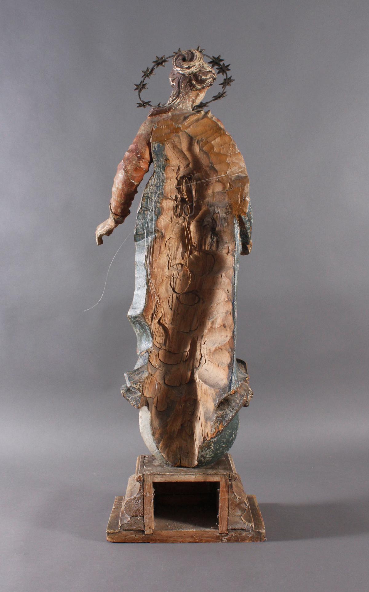 Barock Heiligenfigur, Strahlenkranz-Madonna Maria Immaculata-6