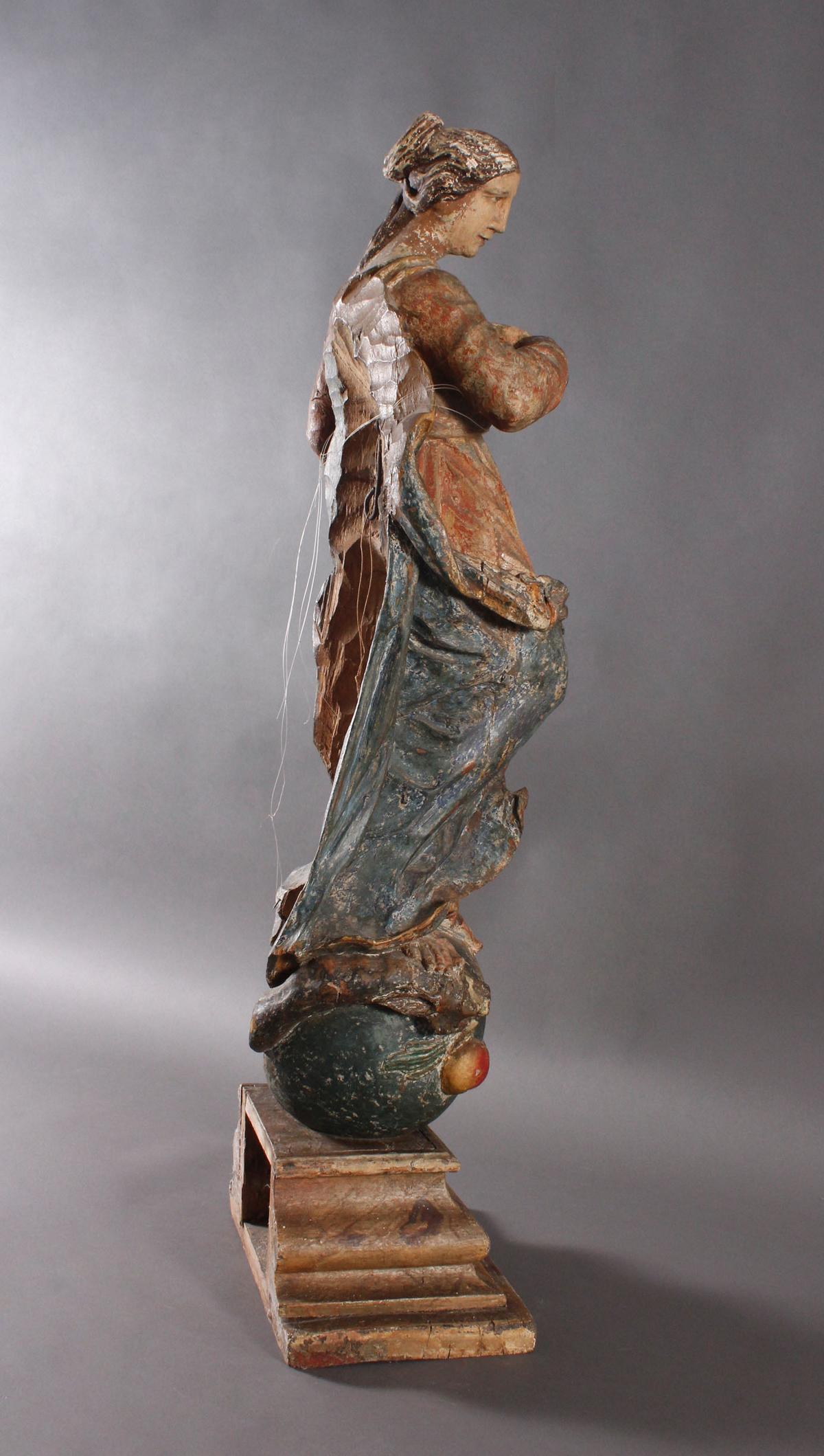 Barock Heiligenfigur, Strahlenkranz-Madonna Maria Immaculata-7