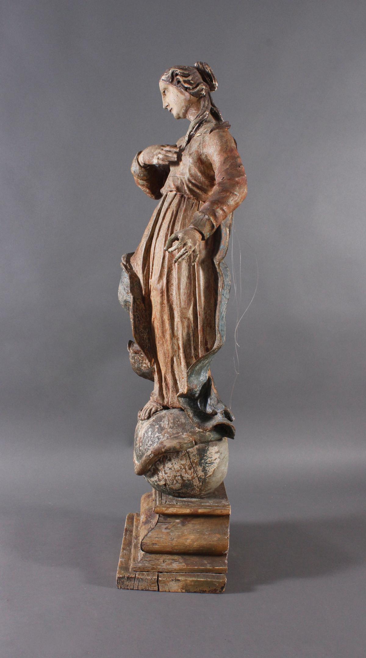 Barock Heiligenfigur, Strahlenkranz-Madonna Maria Immaculata-8