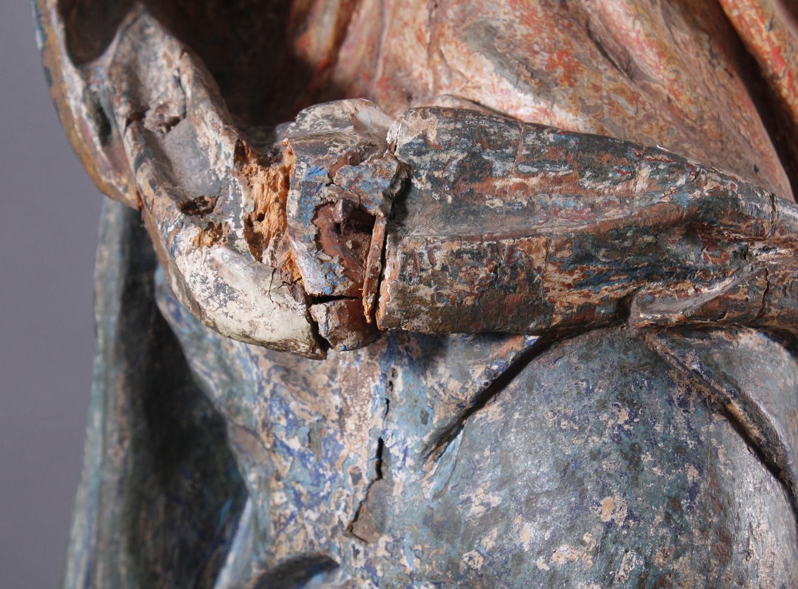 Barock Heiligenfigur, Strahlenkranz-Madonna Maria Immaculata-11