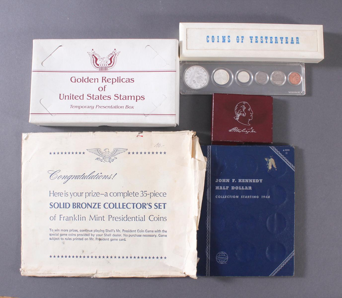Sammlung Münzen und Goldbriefmarken-6