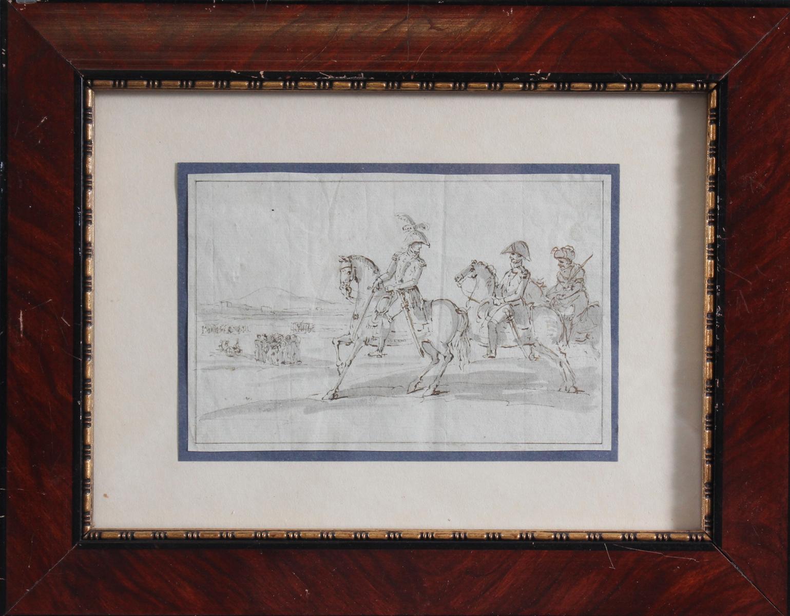 Federzeichnung des 19. Jahrhunderts. 'Marschall Joachim Murat'