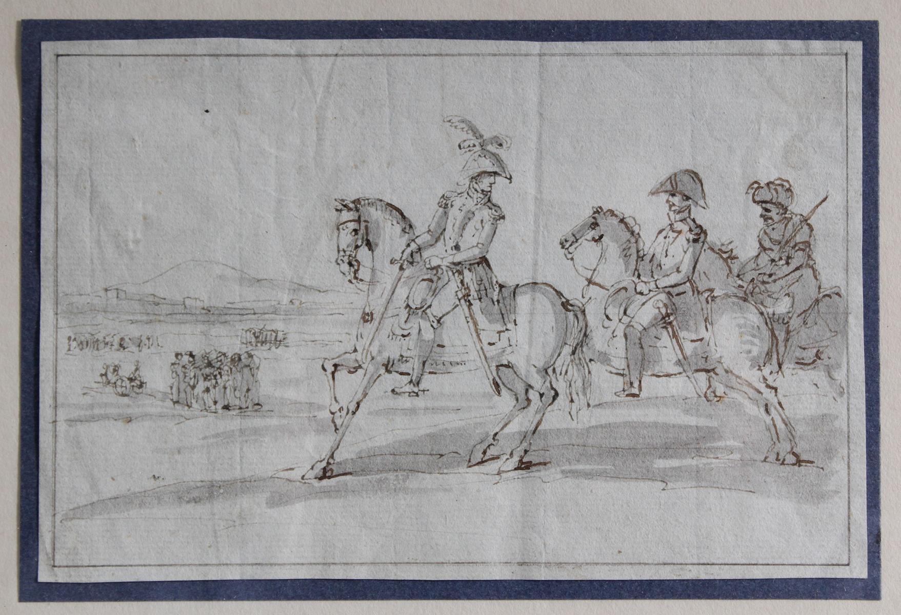Federzeichnung des 19. Jahrhunderts. 'Marschall Joachim Murat'-2