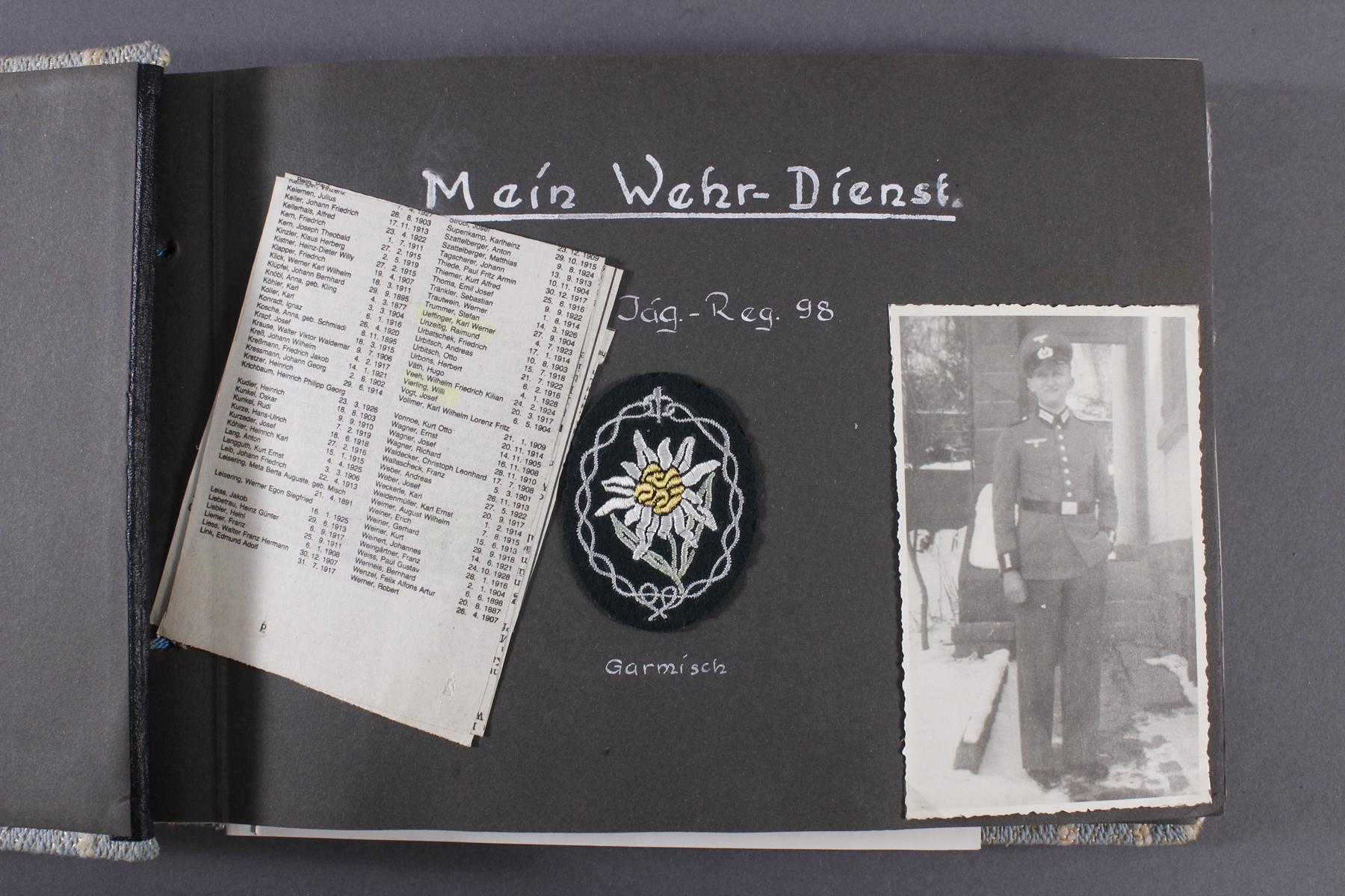 2. WK. Privates Fotoalbum eines Soldaten der 1. Gebirgsdivision-2