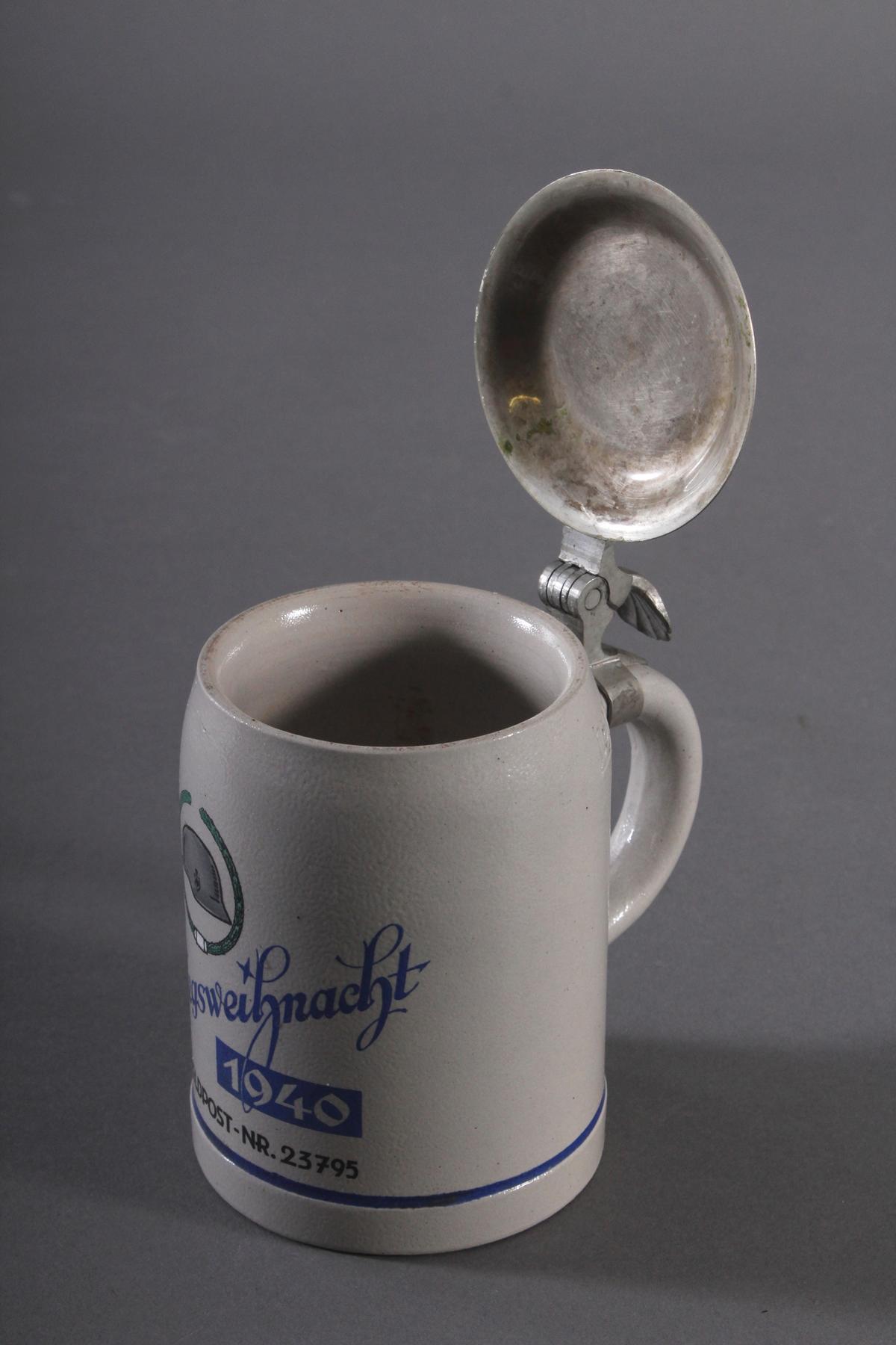 Bierkrug mit Zinndeckel, Kriegsweihnacht 1940-4