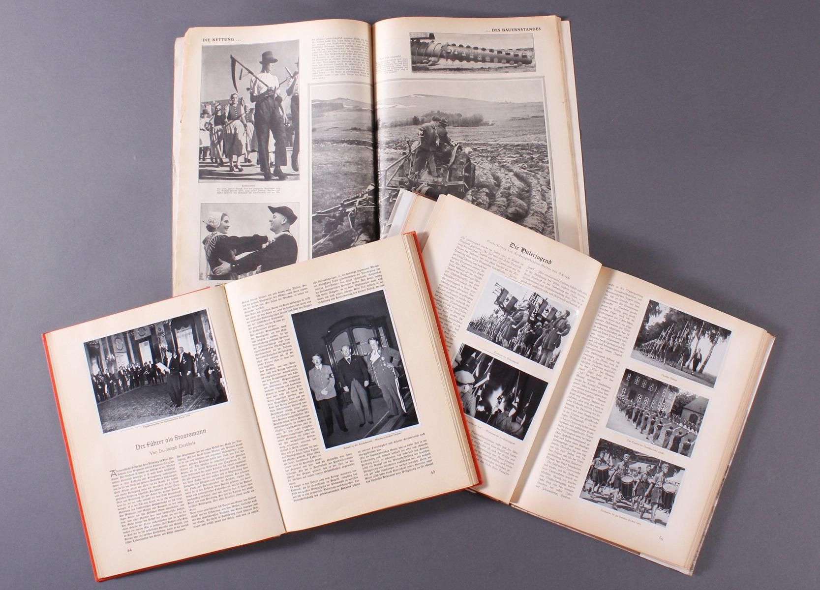 2 Sammelbilderalben und ein Heft III. Reich-2