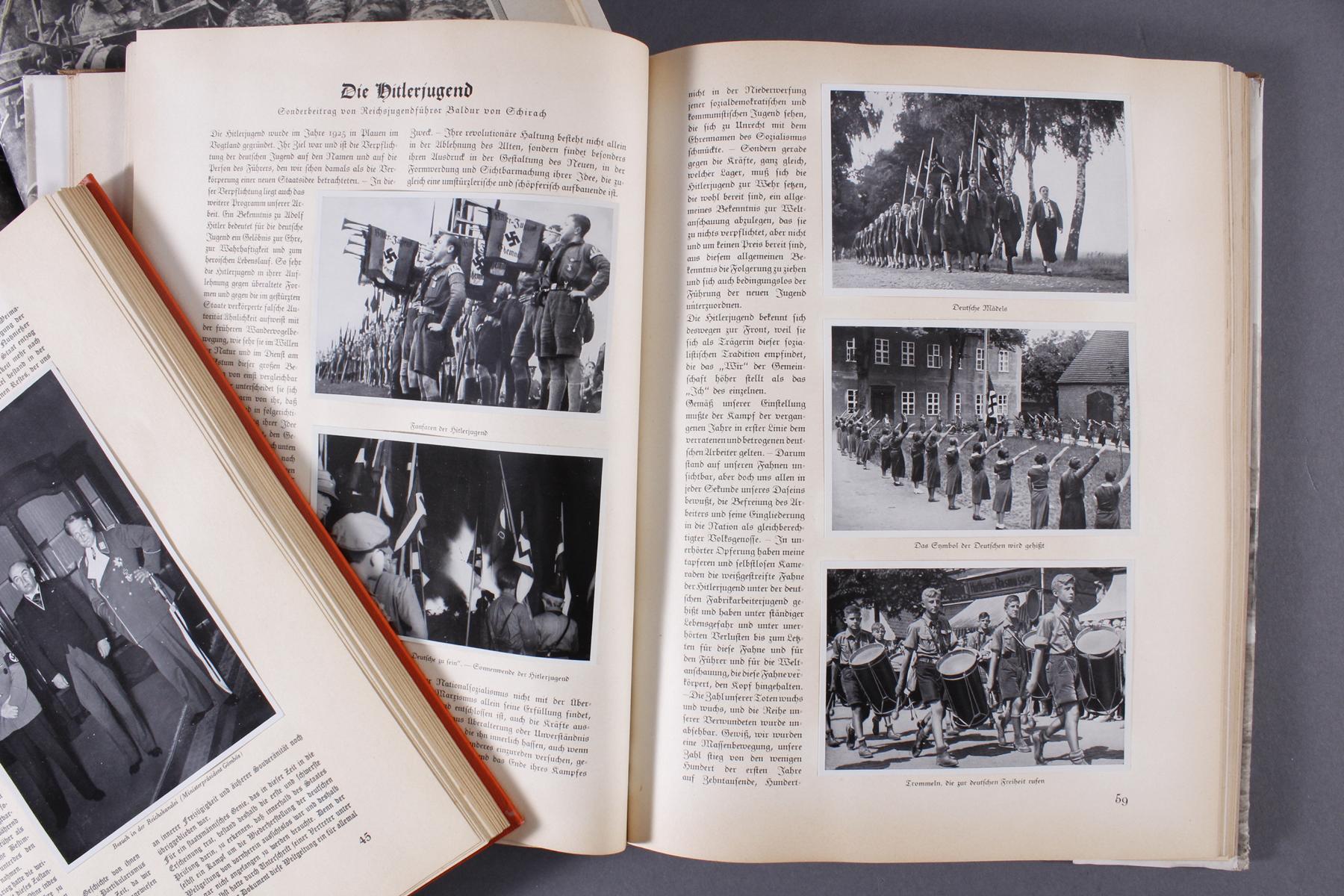 2 Sammelbilderalben und ein Heft III. Reich-3