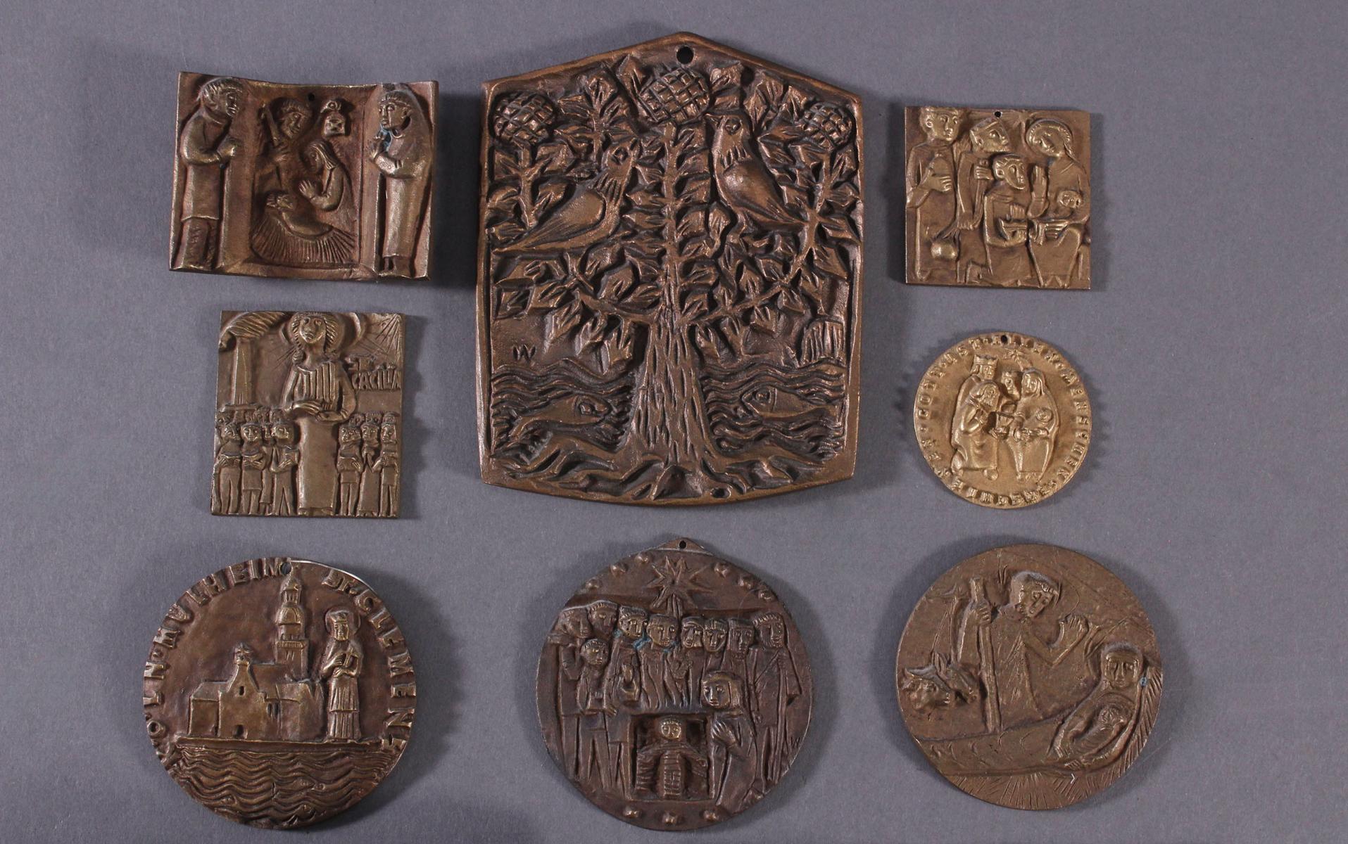 10 religiöse Bronzetafeln-2