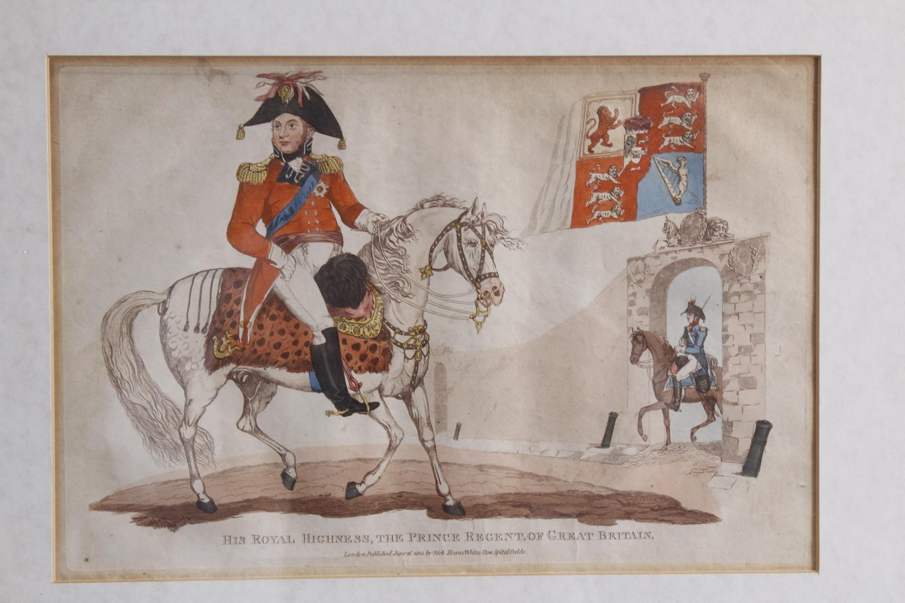 Kupferstich von 1815, Hus Royal Highness, The Prince Regent Of Great Britain-2