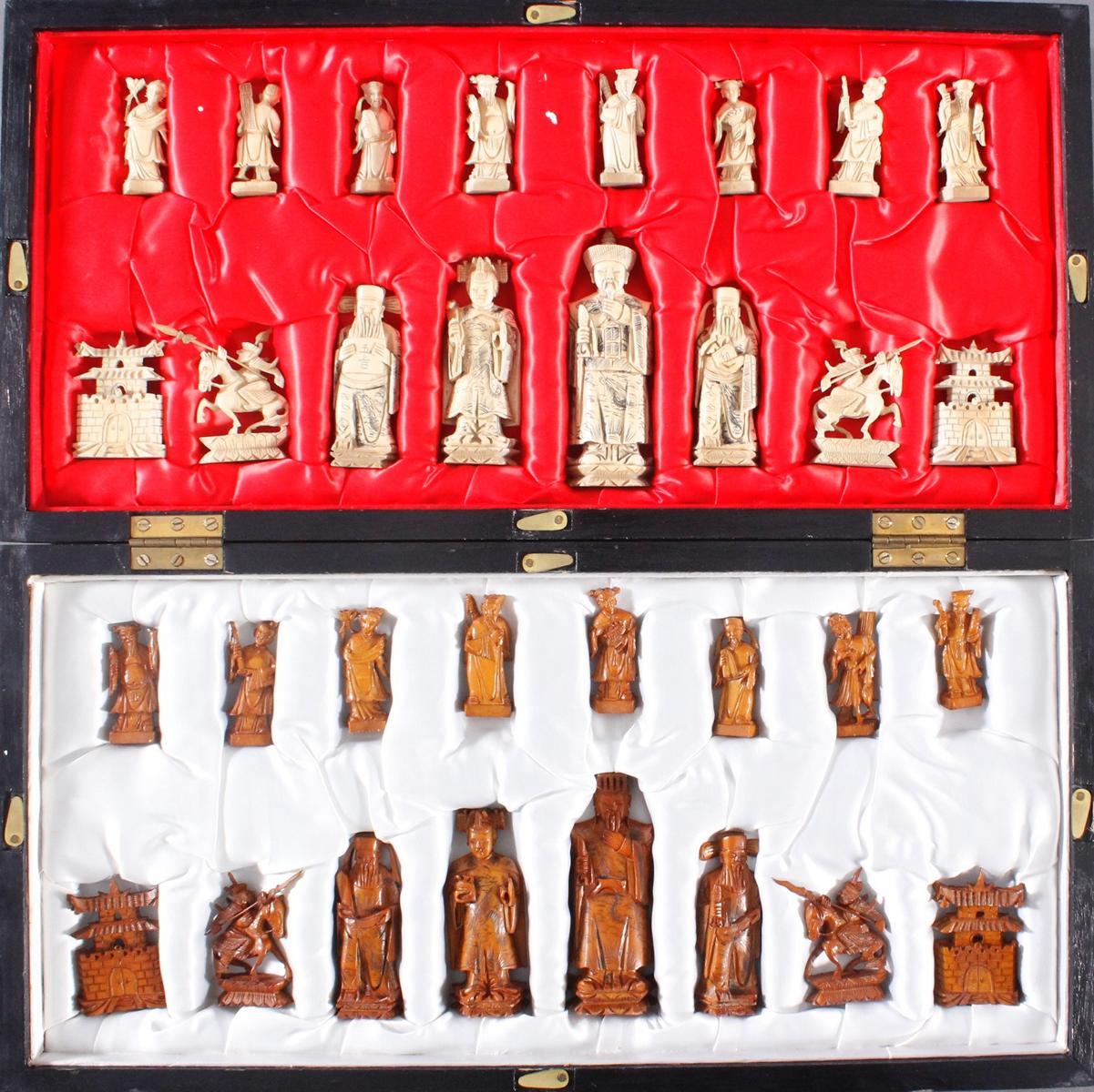 Schachspiel, China, 20. Jahrhundert
