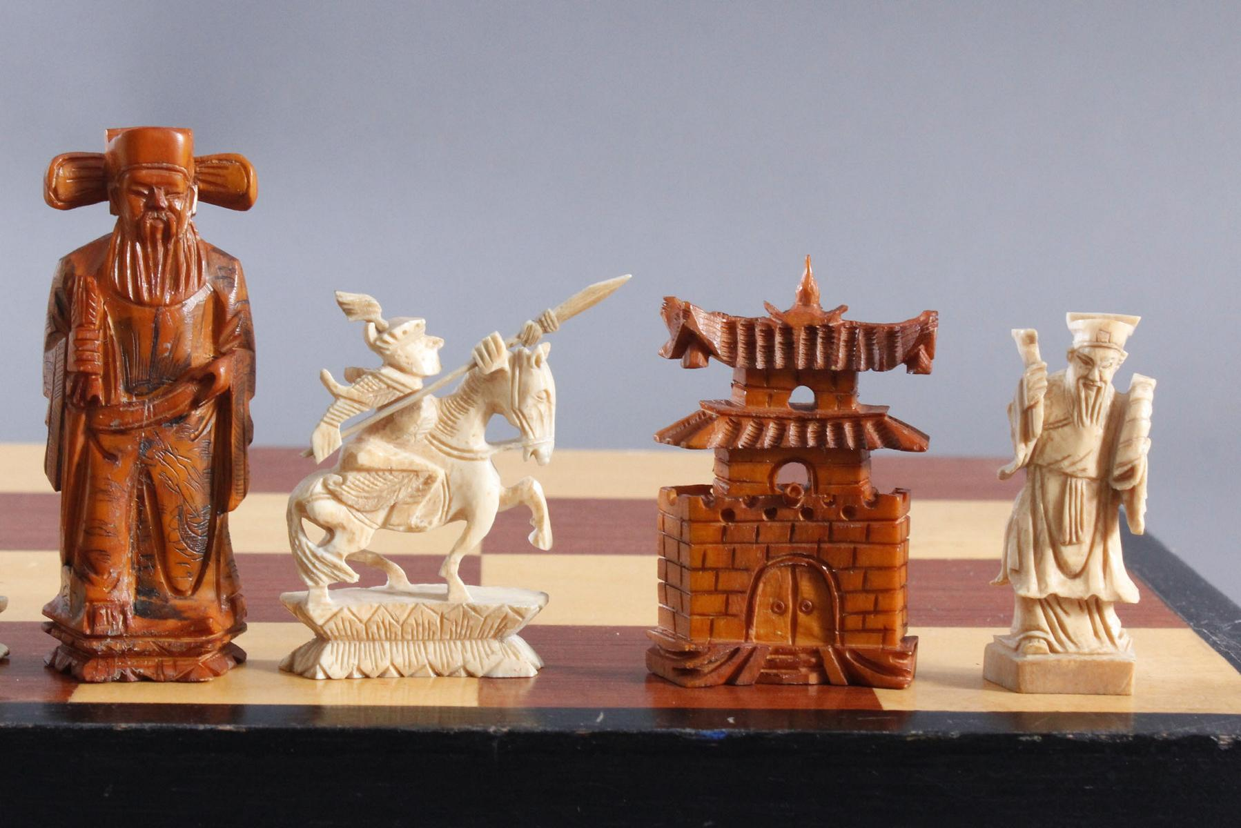 Schachspiel, China, 20. Jahrhundert-7